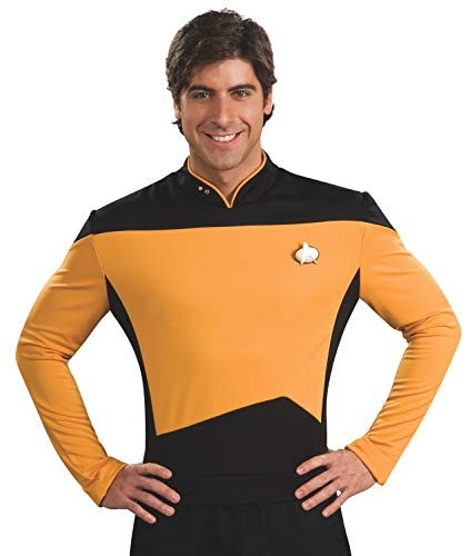 Rubie's Star Trek The Next Generation Deluxe Lt. Commander Data Adult Costume Shirt, Medium -
