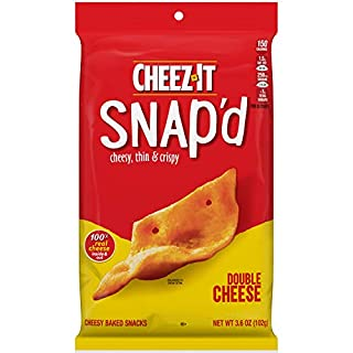 Cheez-It Snap'd, Cheesy Baked Snacks, Double Cheese, 3.6oz Pouch
