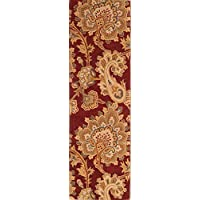 Rug Source Paisley Hand Tufted Indian Oriental 100% Wool Rug 6-8 Ft Runner for Hall Way