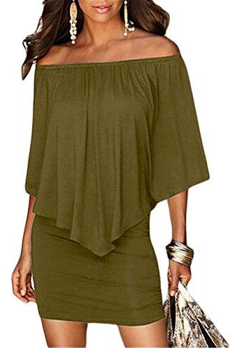 a line off shoulder dress - 7