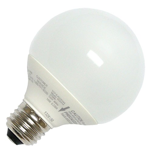 TCP 60 Watt Equivalent, Single-pack, CFL G25 Globe Light Bulb, Non-dimmable, Soft White 4G2514A ()
