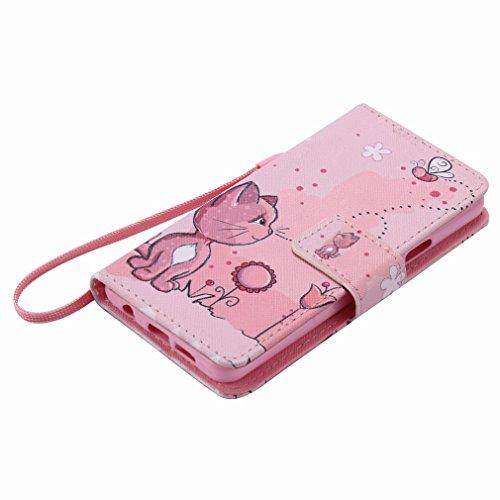 Cover Billetera Tarjetas Estilo Pu Para Carcasa Galaxy Piel Coño A310f Cáscara Estuches Ranura De 2016 Samsung Funda Yiizy Diseño Protector A3 Color Rosa Cuero PaB6S
