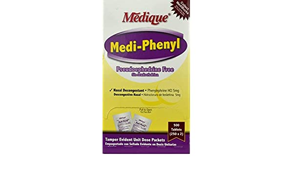 1515523 PT# 205-13 Medi-Phenyl Tab Decongestant Oral 250x2/Bx Made by Medique Pharmaceuticals: Industrial Products: Amazon.com: Industrial & Scientific