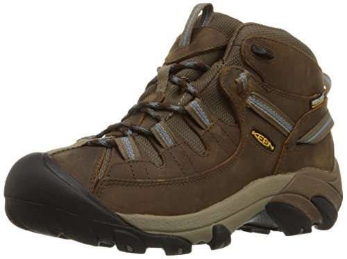 KEEN Women's Targhee II Mid Waterproof Hiking Boot,Slate Black/Flint Stone,7.5 M (Mid Womens Outdoor Boot)