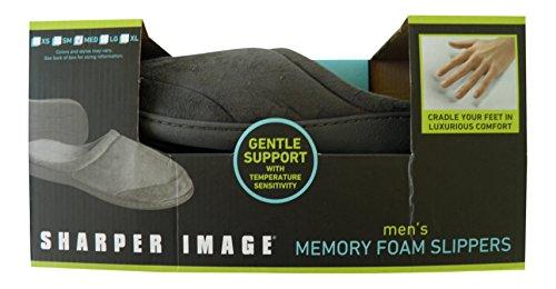 sharper-image-memory-foam-mens-gray-slippers-large