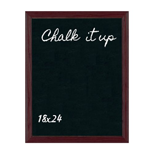 ComeAlong Industries Solid Oak Frame Chalkboard, Country Red, 18'' Width x 24'' Height