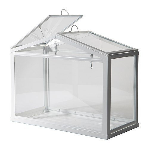 Ikea 'Socker' Mini Indoor Tabletop Steel Frame Greenhouse