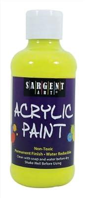 Sargent Art 22-2277 8-Ounce Fluorescent Acrylic Paint, Chartreuse