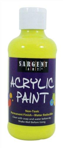 Sargent Art 22-2277 8-Ounce Fluorescent Acrylic Paint, Chart