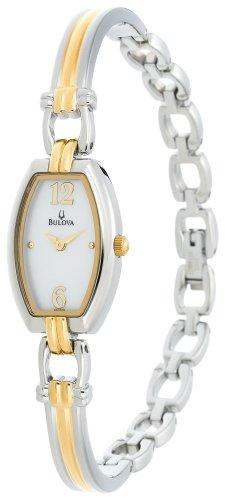 Bulova Women's 98L008 Bangle Bracelet Watch - Steel Bangle Ladies Bulova Watch
