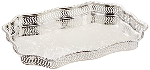 Elegance Serpentine Silver Plated Gallery Tray