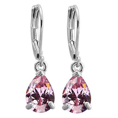Dokis Elegant Women Crystal Rhinestone Drop Dangle Party Hoop Huggie Earrings Jewelry | Model ERRNGS - 2333 | ()