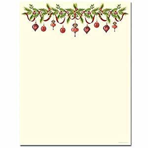 Satisfactory image intended for printable christmas letter paper