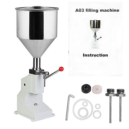 5-50ml Filling Machine A03 Manual Liquid Paste Filling Machine for Water Oil Cream Shampoo Cosmetic Filler ()