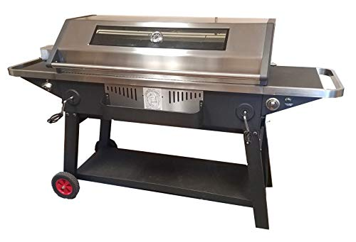 Smoke Daddy XXX Large Elite Spit Roaster Charcoal & Gas Grill All-in-ONE Grill/Rotisserie