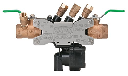 Zurn Wilkins 34-375XL 3/4-Inch Lead Free Reduced Pressure Backflow Preventer ()