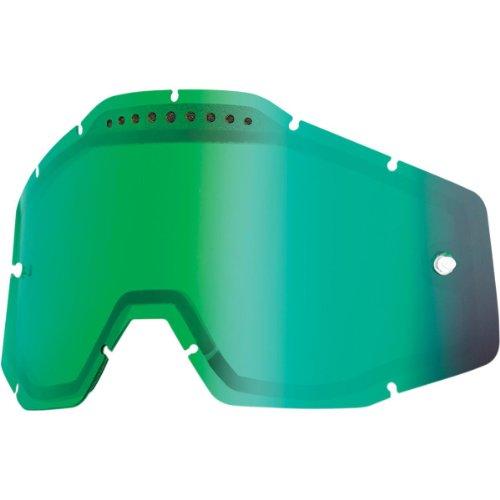 100% - Ecran Double 100% Racecraft/accuri/strata Miroir Or / Fume green / mirror
