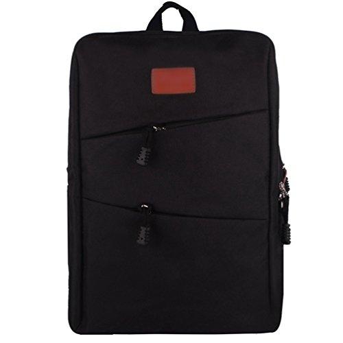 ZKOO Lona Mochila Escolar Backpack Mochilas Mujeres Hombres Daypacks Mochila de Viaje Laptop Bolsa Mochilas Negro