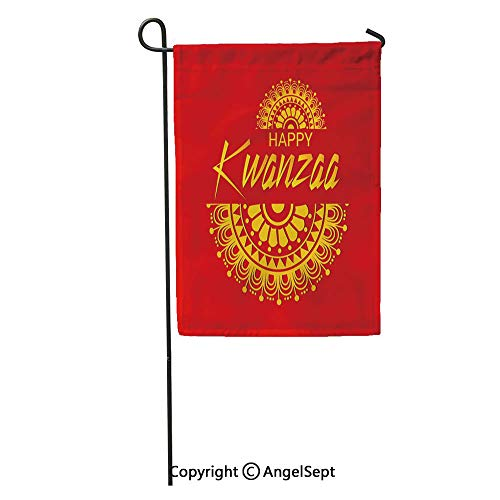Durable Creative Design 18x27in Garden Flag Green African of for Happy Kwanzaa American Black Celebration Culture Home Yard House Decor Outdoor Stand