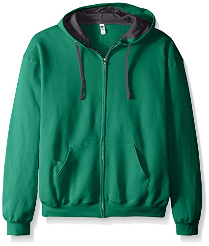 Fruit of the Loom Men's Full-Zip Hooded Sweatshirt, Clover, XX-Large