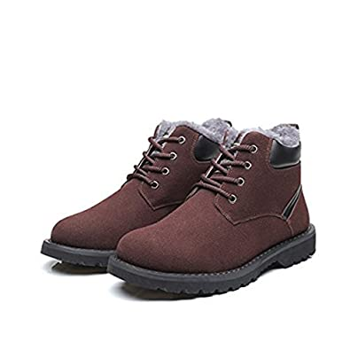 75577c681b5b7 Amazon.com | gracosy Winter Boots for Men, Men's Ankle Snow Boots High Top Winter  Boot Warm Casual Suede Shoes with Fur Lined | Outdoor