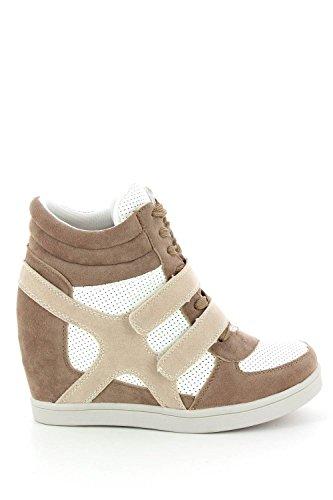 Baskets mode compensées bimatière urban - chaussure femme