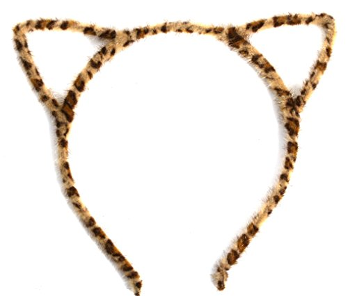 Accessorize Halloween Costume (VK Accessories Halloween Costume Cat Ear Hairband Leopard Yellow)