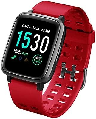naack Pulsera Actividad, smartwatch, Reloj Inteligente Impermeable IP68 Pulsómetro Monitor de sueño Pulsera Deportiva Cronómetro Contador de calorias ...