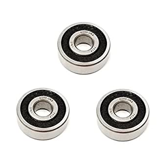 3x 6302 2RS Rubber Sealed Deep Groove Ball Bearings 15x42x13 mm