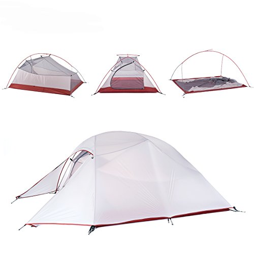 Nylon 3 Person Backpacking Tent (Naturehike Cloud-Up Ultra-light 3-Person Backpacking Tent (Gray))