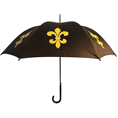 San Francisco Umbrella Co, Black/Gold Fleur de Lis Umbrella