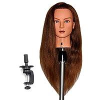 Zvena Beauty 100% Human Hair Cosmetology Mannequin Manikin Training Head with Clamp