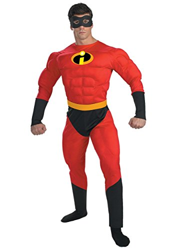 Disguise Mens Mr. Incredible Deluxe Muscle Plus Size Costume 2x-large (Mr Incredible Adult Costume)