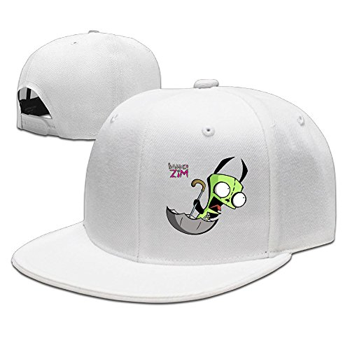 Gir Is Adorable Invader Zim Flat Along Baseball Cap White