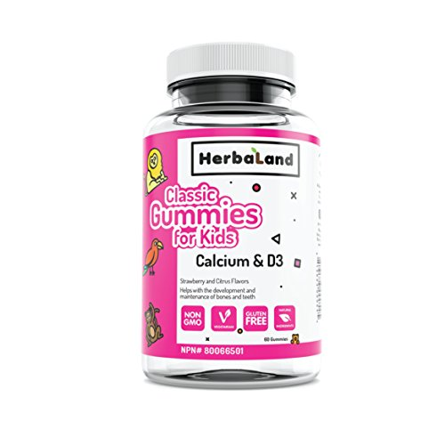 Herbaland Classic Gummies for Kids: Calcium and D by Herbaland