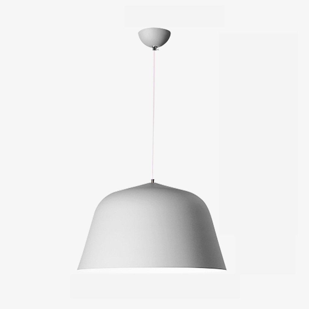 Post-modern minimalist color aluminum chandelier restaurant bar A+ ( Color : Silver , Size : S )
