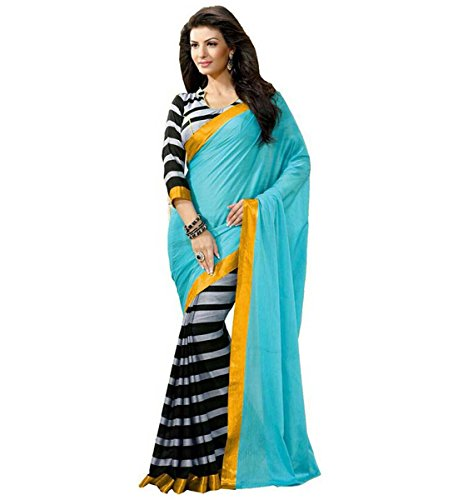 Muta Fashion Bhagalpuri Printed Ethnic Women Saree (Sea Green)