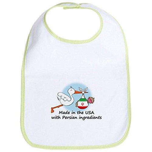 CafePress - Stork Baby Iran USA Bib - Cute Cloth Baby Bib, Toddler Bib