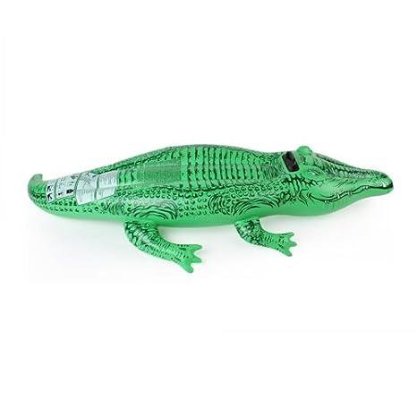 Flotador Hinchable Colchoneta Cocodrilo Verde Plástico para Niños: Amazon.es: Bebé