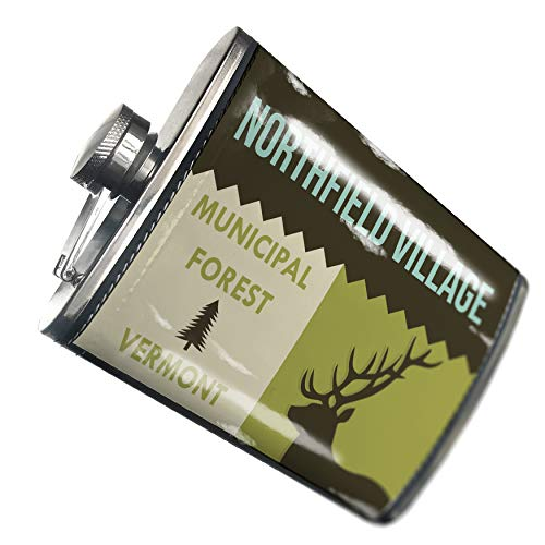 Northfield Light One (NEONBLOND Flask National US Forest Northfield Village Municipal Forest Hip Flask PU Leather Stainless Steel Wrapped)