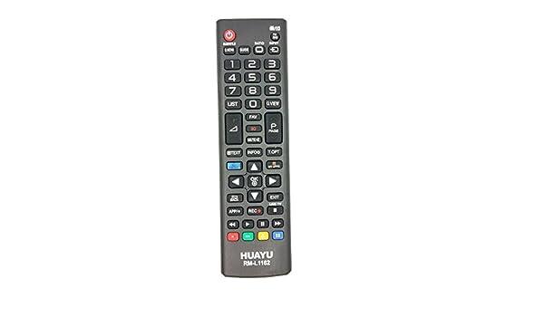 Huayu RM-L1162 mando a distancia para LG LED TV con 3d botones ...