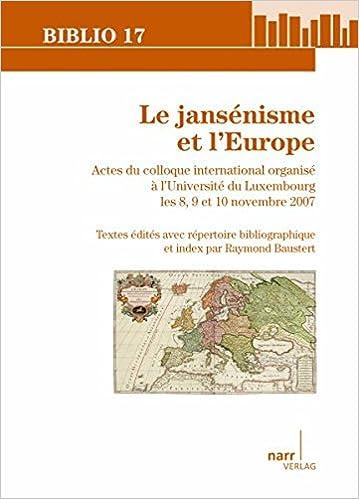 Book Le jansénisme et l'Europe