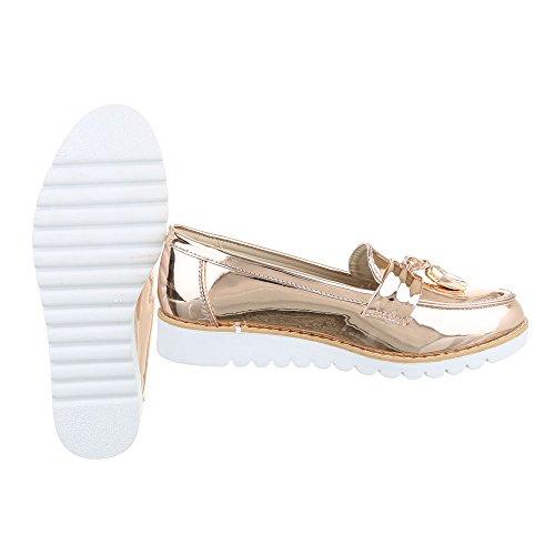 Ital-Design - Zapatillas de casa Mujer Rosa Gold 62050