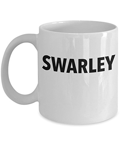 Swarley Ted Barney Coffee Mug Cup (White) 11oz How I Met Your Mother Tv Show HIMYM Gifts Merchandise Accessories Shirt Sticker Decal Decor
