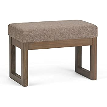 Simpli Home Milltown Ottoman Bench, Small, Fawn Brown