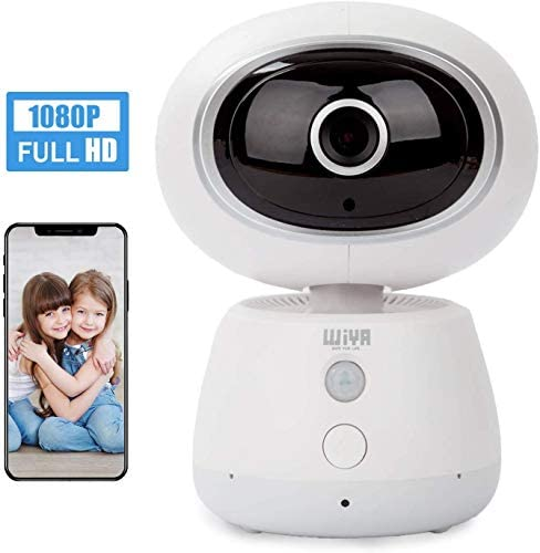Pet Monitor Camera, WiYA Security 1080P HD 2.4G WiFi IP Wireless Home Monitor Camera, Motion Detection Night Vision Camera for Pet Baby Elder White