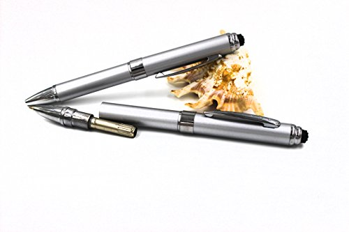 2 in 1 Vibration & massage ballpoint pen - mini Massage Tip Pen with Gift Box - Multifunction Electronic Pen (Silver) by JASON YUEN (Image #3)