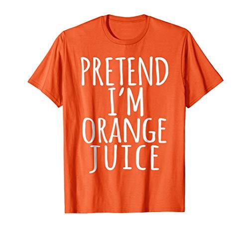 Lazy Halloween Costume Shirt - Orange Juice Fruit Lover Gift -