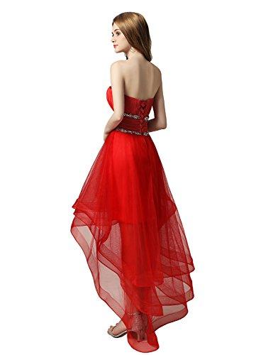 Asymmetrisch Herzausschnitt CAJ014 Ballkleid Tüll Abendkleid Clearbridal Gelb Partykleid Damen E0qwUYnC