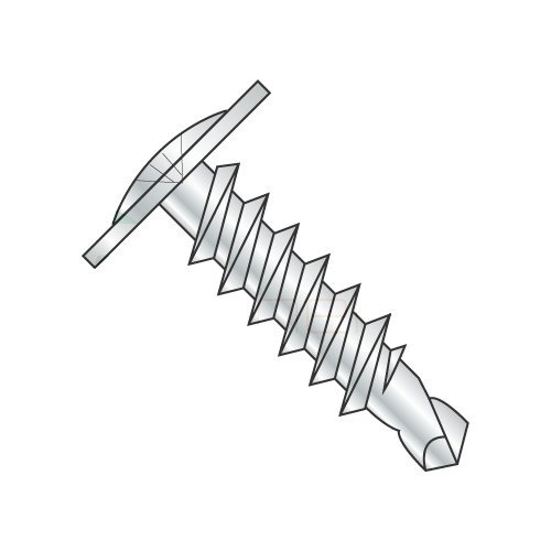 #8-18 x 1 5/8'' Self Drilling Screws, Steel, Zinc Plating, Modified Truss, Phillips Drive, 2 Point, Type BSD (Quantity: 4000 pcs)